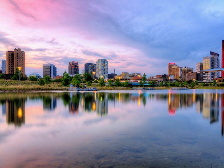 Birmingham at sunset