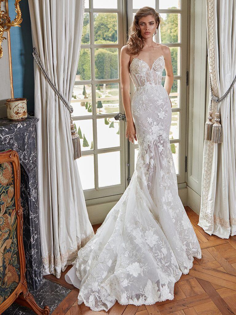 Galia Lahav strapless mermaid gown