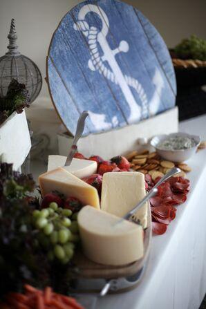 Nautical-Themed Artisanal Cheese Display