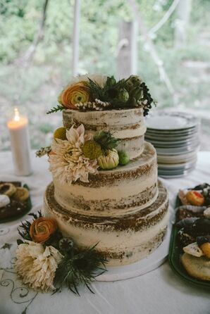 Three-Tier Naked Cake