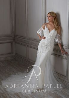 Adrianna Papell Platinum Gladys Mermaid Wedding Dress