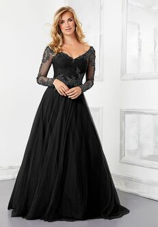 MGNY 72306 Black Mother Of The Bride Dress