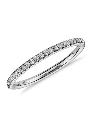 Blue Nile 48633 White Gold Wedding Ring