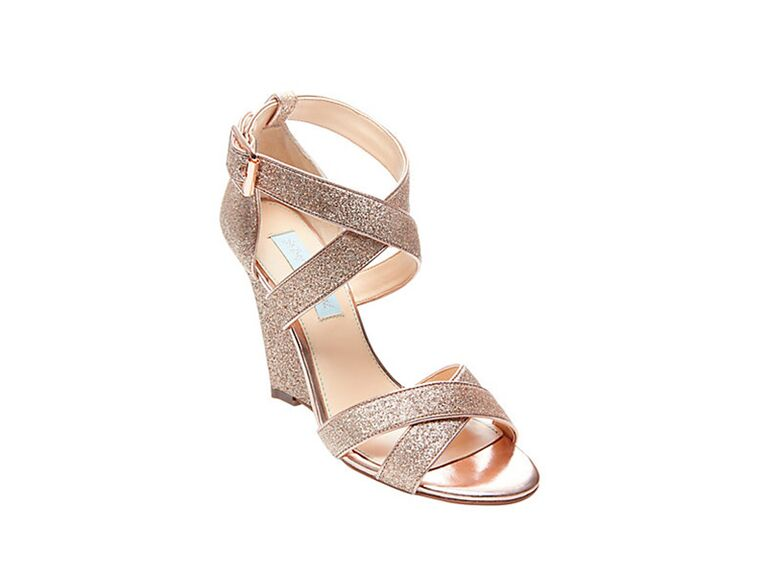 0a2500506c Betsey Johnson champagne wedding wedges