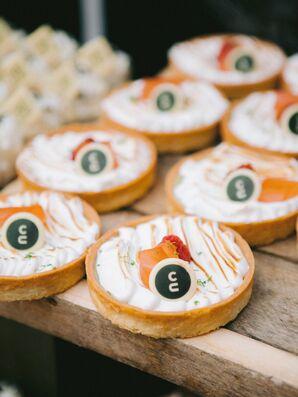 Elegant Bites Displayed on Wood Table