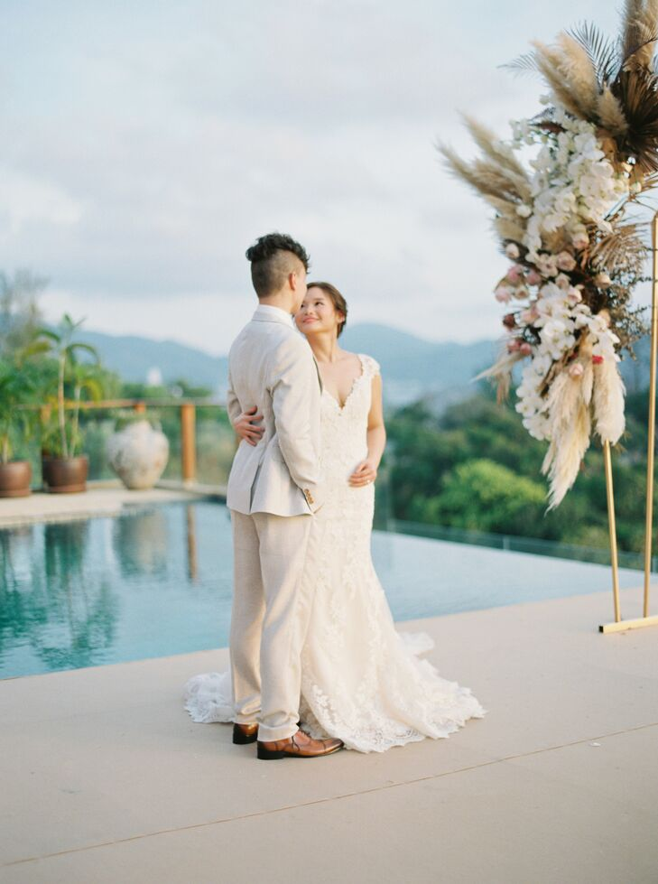 Bride and Groom Portraits in Phuket, Thailand