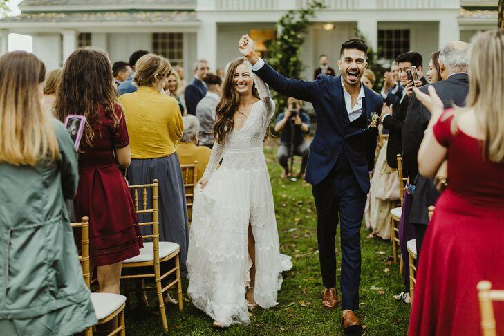 Wedding Recessional at Zingerman's Cornman Farms in Dexter, Michigan