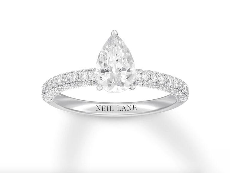 Neil Lane diamond engagement ring in 14K white gold