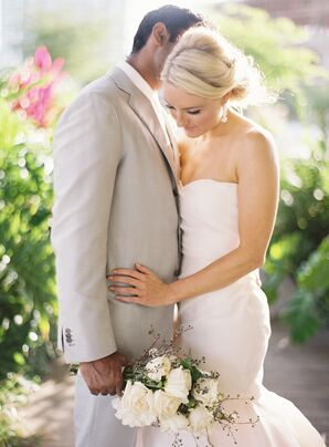 Groom's Kiton Suit and Bride's Bouquet