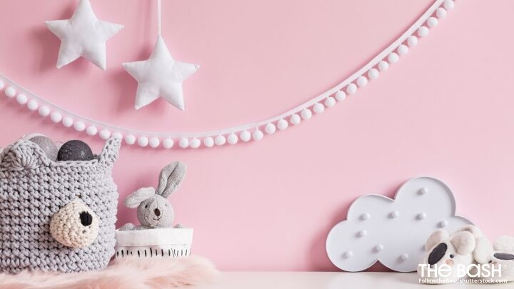 Pink Baby Shower Zoom Background