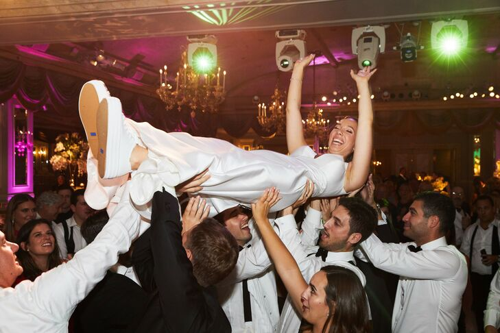 Bride Crowd Surfing During Ballroom Wedding Reception at The Pierre in New York City