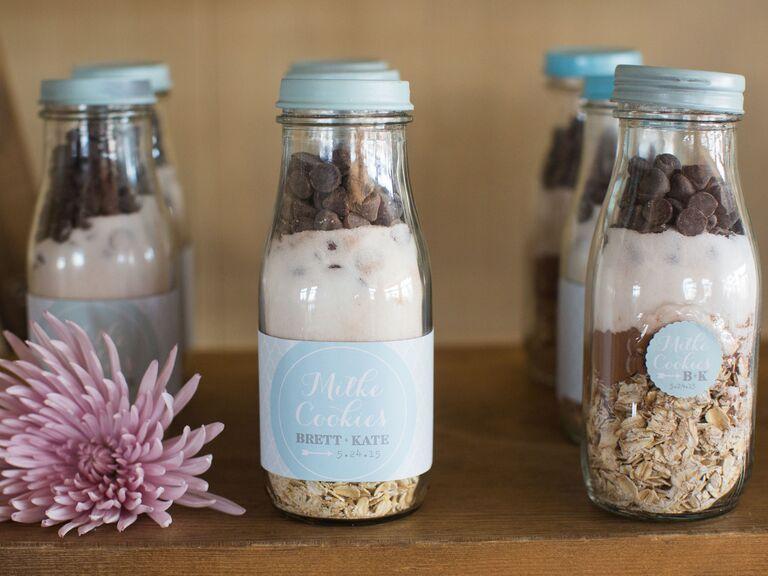 No-bake cookie DIY mix wedding favor - edible wedding favor ideas