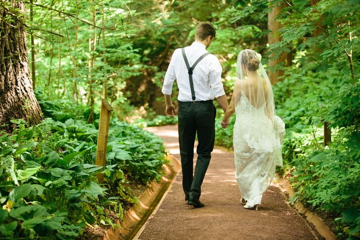 Immediately following the ceremony, Nicole and Gavin sneaked away from the crowd for an intimate walk as husband and wife.