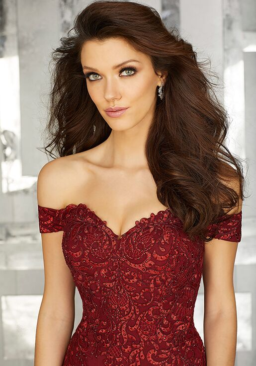 MGNY 71616 Red Mother Of The Bride Dress