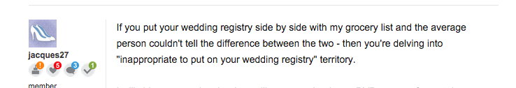 Wedding registry etiquette are everyday staples off limits screen shot 2015 01 28 at 30320 pm junglespirit Choice Image