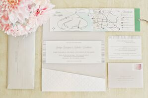 Customized Los Angeles Map Invitations