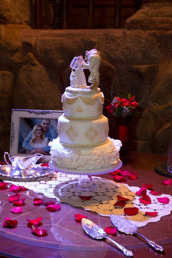 Beauty And The Beast Wedding Cake.Beauty And The Beast Cake Topper
