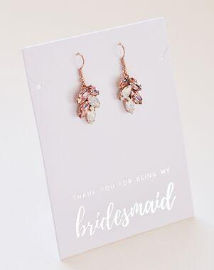Dareth Colburn Crystal Leaf Earrings (JE-4159-RG) Wedding Earring photo