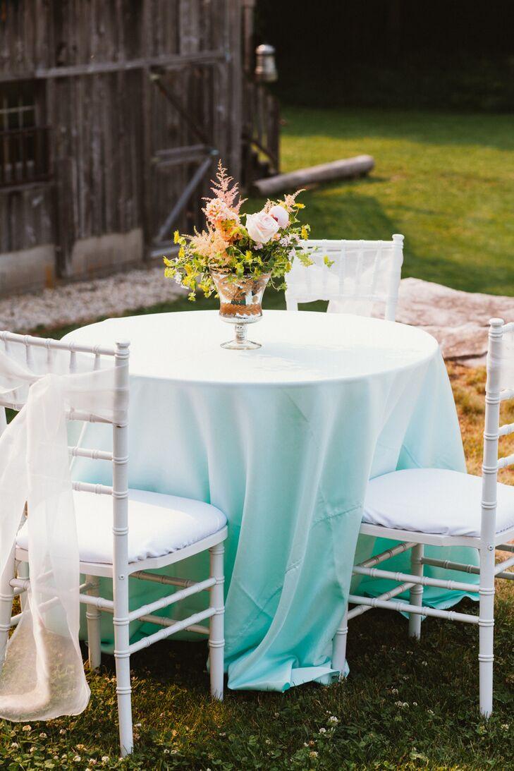 Romantic, Mint Cocktail Tables