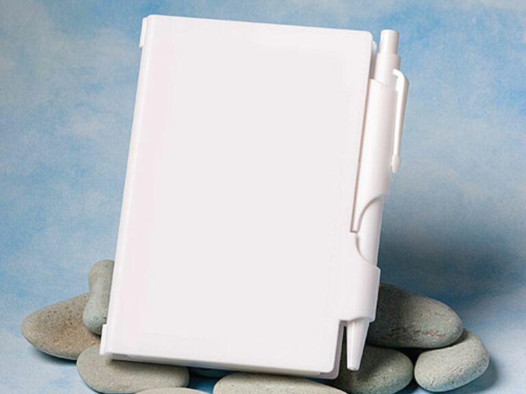 mini white notebook