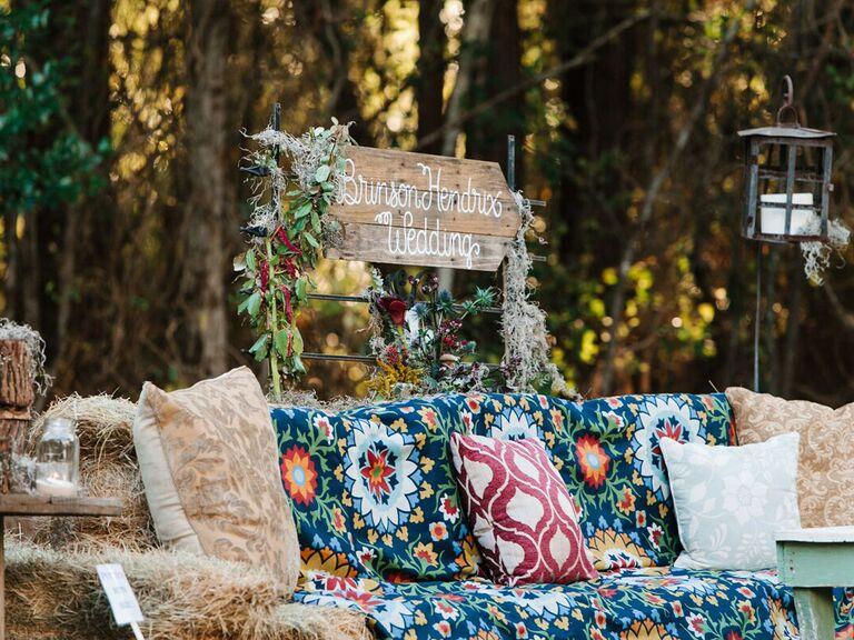 Backyard Wedding Ideas Hay Bale