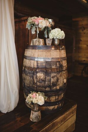 Rustic Glam Flower Altar Decor
