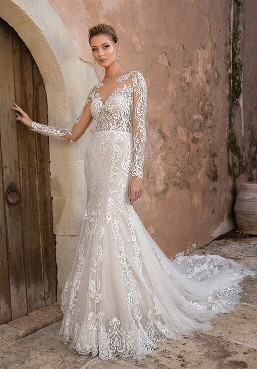 Justin Alexander 88049 Sheath Wedding Dress