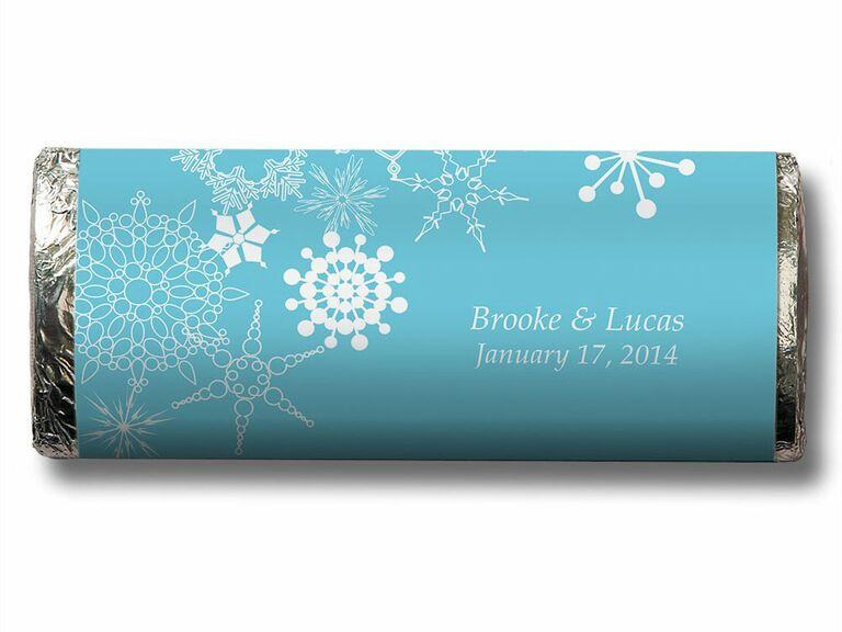 snowflake wrapped chocolate bar