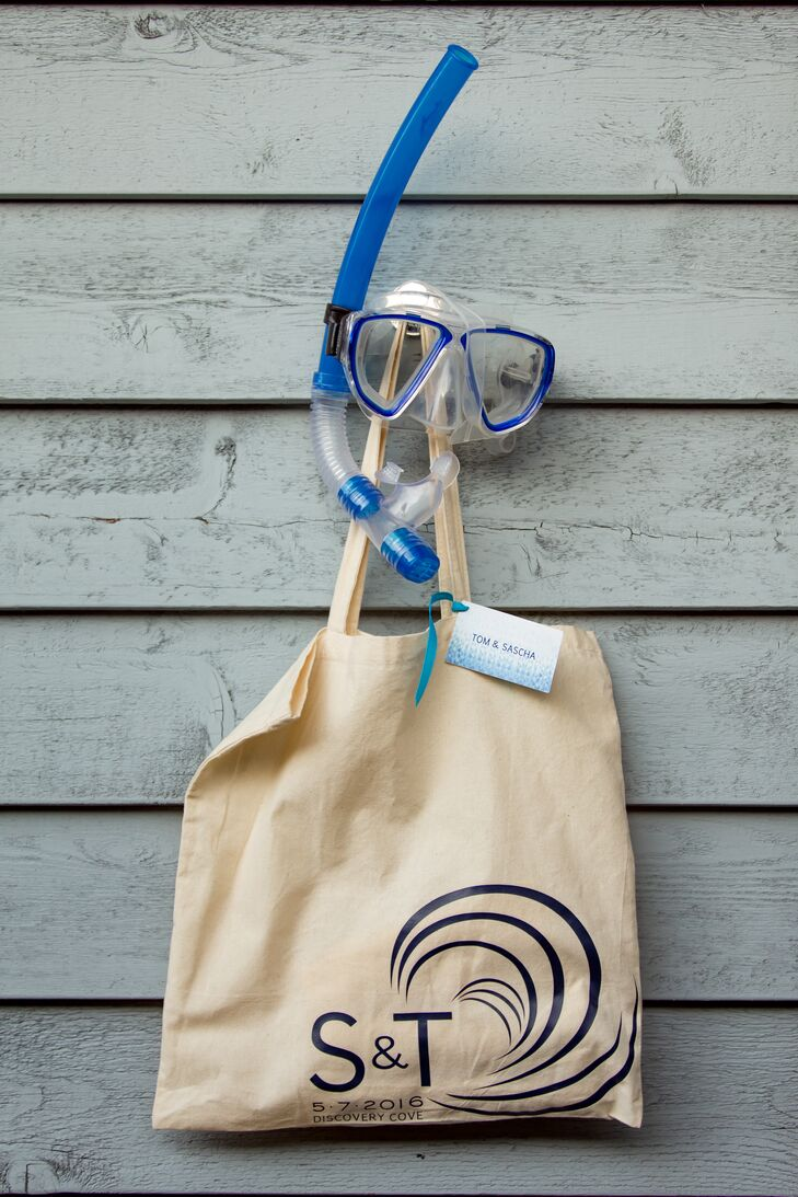 Personalized Nautical Welcome Tote Bags