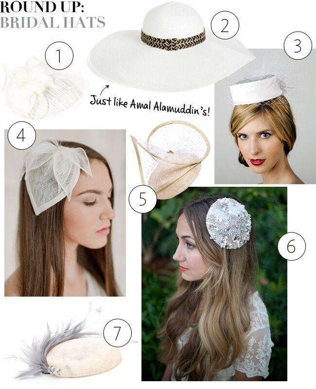 178ff98428c3b Rock a Hat on Your Wedding Day Like Amal Alamuddin — Shop These ...