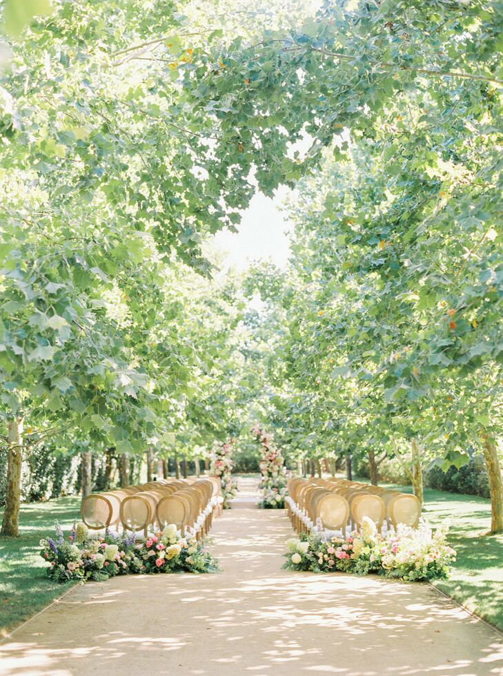 Tree Grove Wedding Ceremony at Kestrel Park in Santa Ynez, California