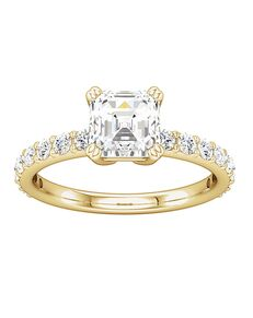 ever&ever Vintage Asscher Cut Engagement Ring