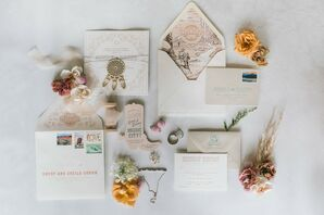 Cowboy-Inspired Invitation Suite for Wedding at Saddle Wood Farms in Murfreesboro, Tennessee