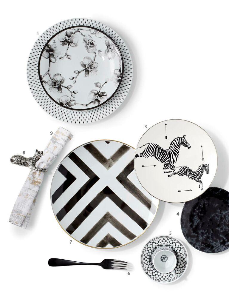 Black and white mixed china