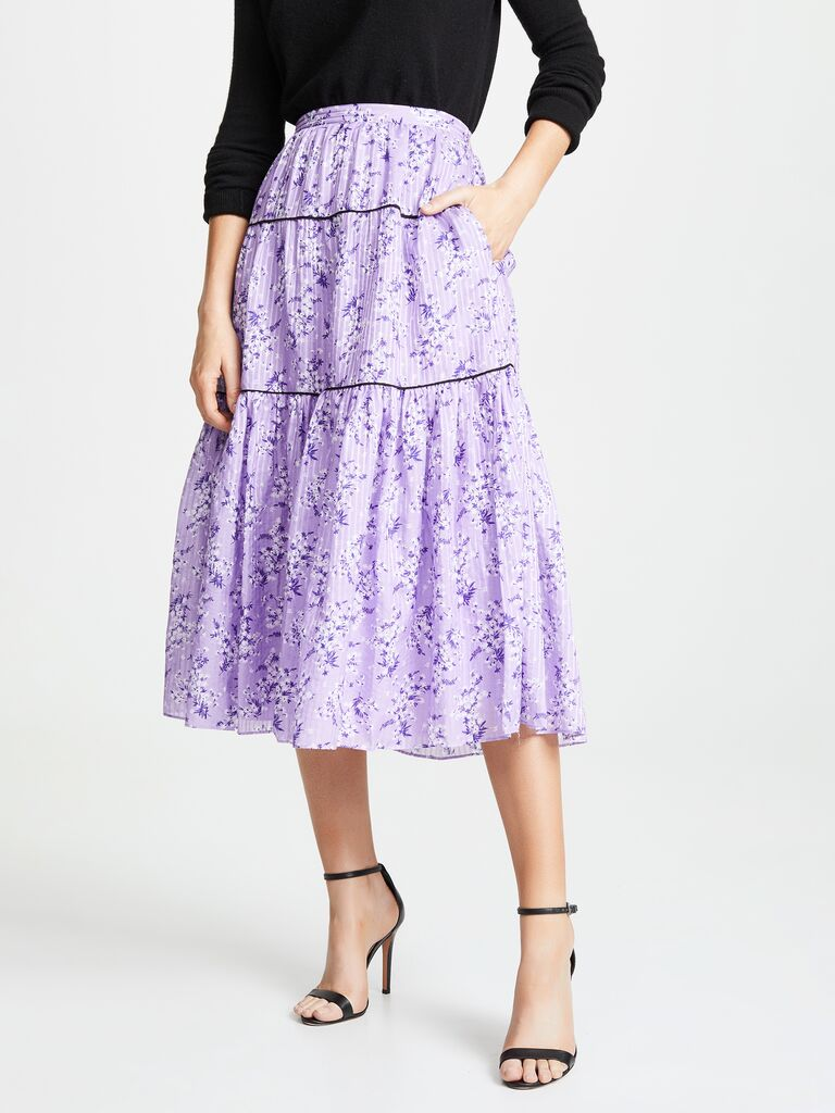 Floral skirt for casual dress code