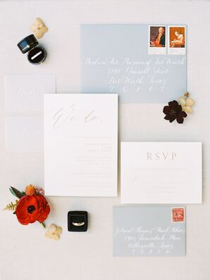 Simple Invitations for Wedding at the Modern Art Museum of Fort Worth in Texas