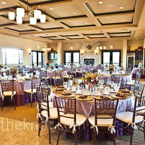 Purple and Gold Reception Ideas