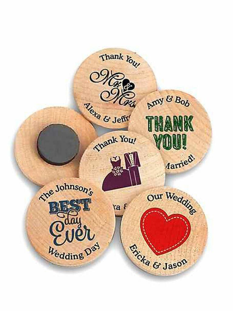 custom wooden magnets