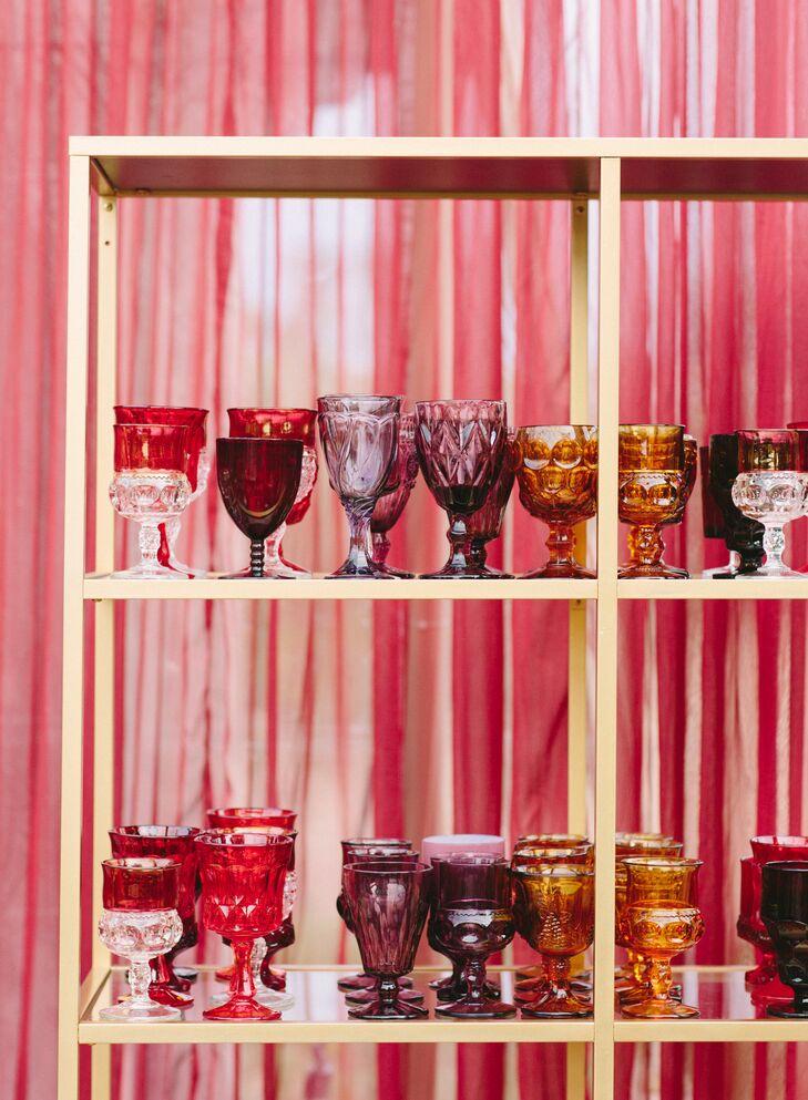 Vintage Jewel-Tone Glassware