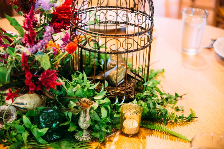 Rustic Birdcage Centerpieces