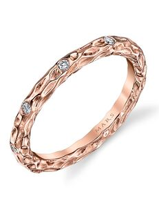 MARS Fine Jewelry MARS Jewelry 25681 Wedding Band Rose Gold Wedding Ring