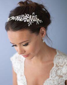 Dareth Colburn Ivy Pearl & Crystal Bridal Headband (TI-3268) Gold, Silver Headband