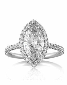 Mark Broumand Elegant Marquise Cut Engagement Ring