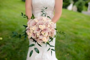 Mauve and Ivory Rose Bouquet