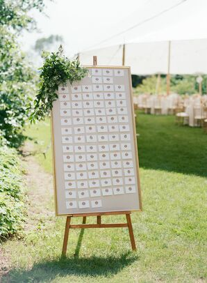 Elegant Framed Seating Chart with Easel