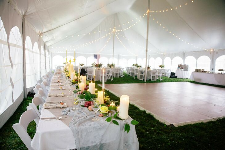 Tented Reception with Long Guest Tables