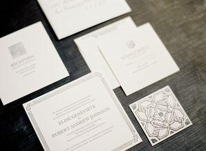 Elegant Garden-Inspired Invitation Suite