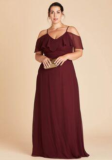 Birdy Grey Jane Convertible Dress Curve in Cabernet V-Neck Bridesmaid Dress