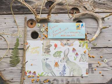 Animal theme invitation wedding ideas