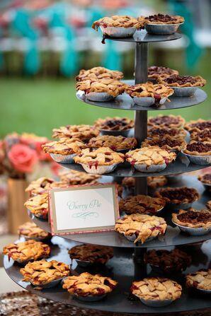 Mini Cherry Pie Wedding Reception Desserts